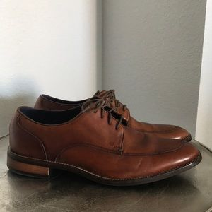 Cole Haan Grand.OS brown leather Oxford loafers